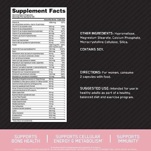 Optimum Nutrition Opti-Women-60Serv.-120Caps